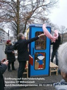 Eröffnung durch Bezirksbürgermeister Helmut Kleemann am 20.12.2012