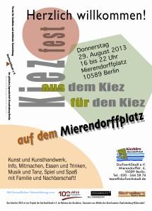 Plakat zum 7- Kiezfest im Mierendorff-Kiez