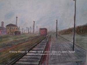 © Georg Wittwer (1932-2013) Gleis 17 Pastell 2008