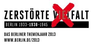 """Logo des berliner Themenjahres 2013 """"Zerstörte Vielfalt"""""""