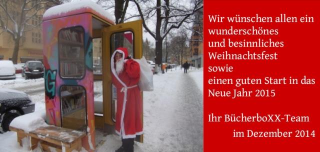BücherboXX-Team Weihnachts- und NeuJahrsGrüße