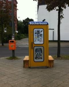 BücherboXX am alten StandortHalemweg | Danke Physalis für dieses Bild :-)