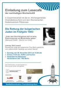 Plakat zur Veranstaltung zum 8. November 2015