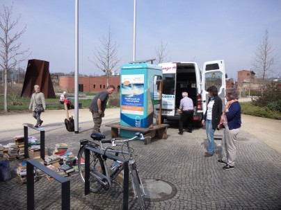 Aufbau am Fahrrad-Stellplatz