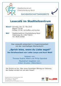 Einladung zum LeseCafe am 22. Mai 2016