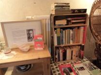 Nicht alle Bücher haben im Koffer Platz gefunden