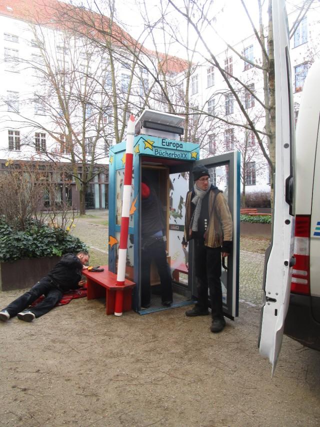 Neuer Standort der BücherboXX Europa II Berlin-Prenzlauer Berg