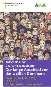 Cover der Einladung zur Autorenlesung mit Charlotte Wiedemann