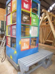 TRIO BücherboXX noch in der Werkstatt im Sägewerk Grunewald